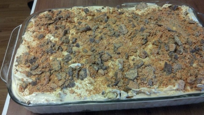 Graduation Time: Butterfinger Dessert