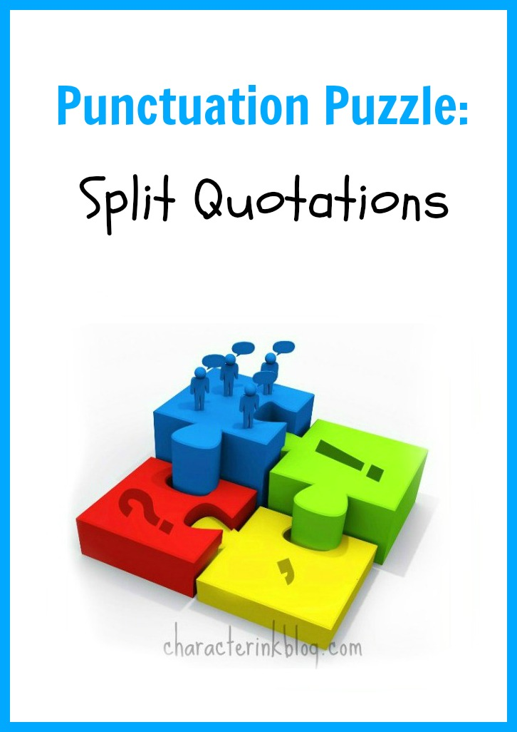 Punctuation puzzle split quotations character ink ccuart Image collections