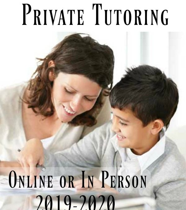 Character Ink Private Tutoring Online or In Person 2019-2020